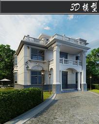 欧式三层建筑3D模型