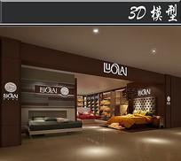 中式家纺门头模型