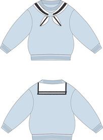 春秋男女孩海军领卫衣服装设计