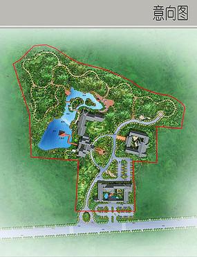 古典园林景观彩平图