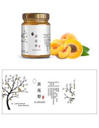 黄桃罐头标贴设计