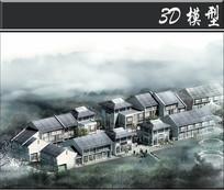 徽派古建群场景3D模型