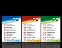 企业7S管理标语展板设计