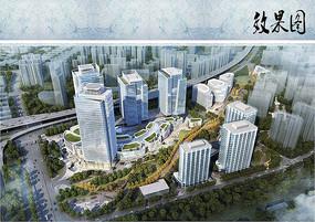商业建筑日景鸟瞰图 JPG