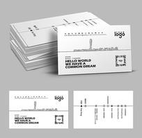 线条城市建筑工程名片