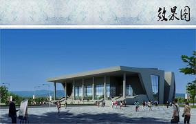 展览馆建筑效果图