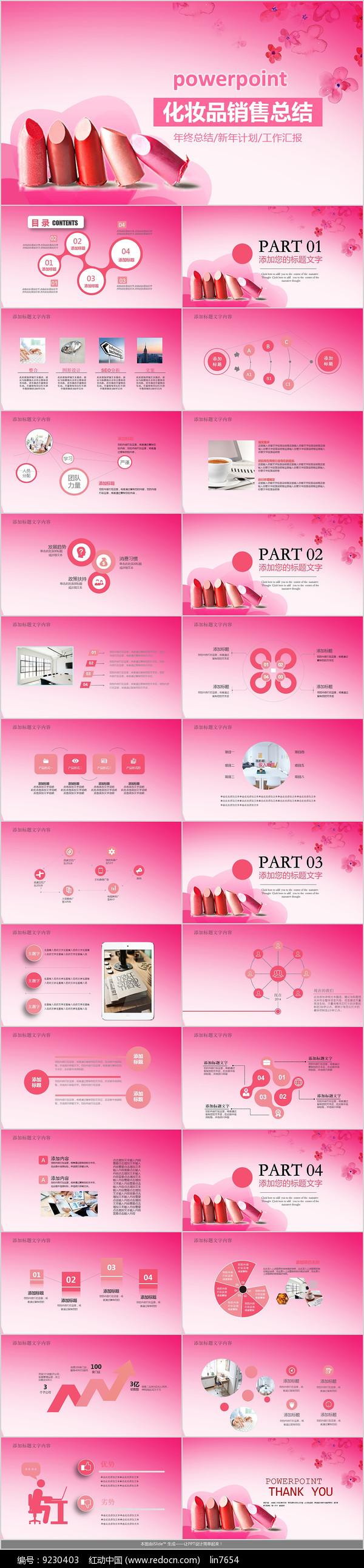 化妆品商业计划书PPT模板图片