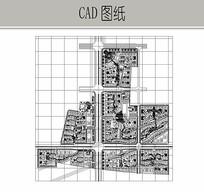 小区景观规划CAD平面图