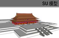 北京古典大殿模型