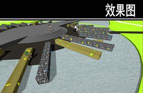 东部华侨城花桥雕塑效果图