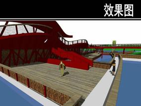 东部华侨城某公园湿地廊桥效果