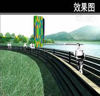 东部华侨城湿地景观塔效果