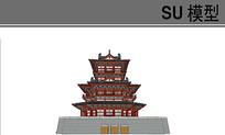古建阁楼模型