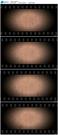 老电影胶片视频素材