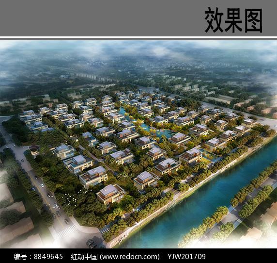 某华侨城住宅鸟瞰图图片