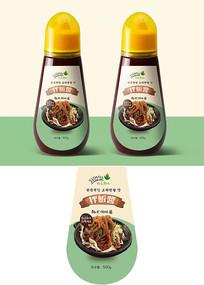简约韩式辣酱瓶贴包装设计