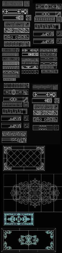 欧式拼花CAD图案