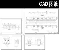 铁索桥CAD平面图