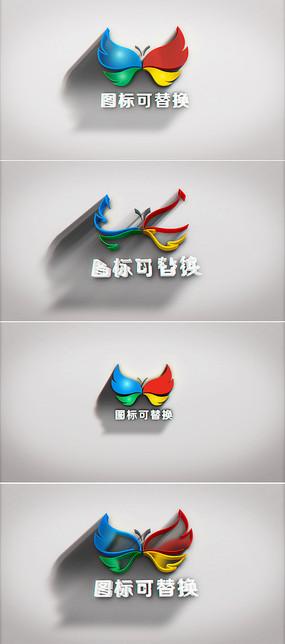 3d简洁logo演绎ae模板