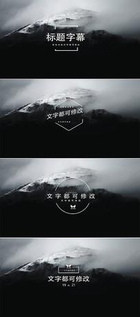 4k标题字幕排版动画ae模板