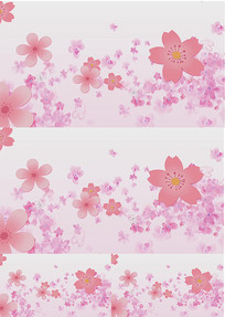 水面波纹桃花花瓣舞台背景视频