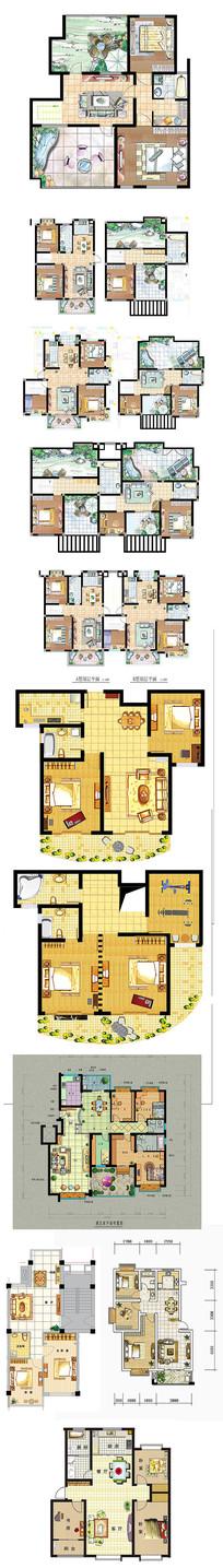 家居平面装饰效果图素材