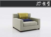 米色沙发3D模型