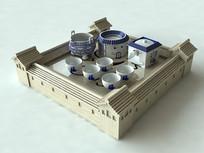 3D客家茶盘效果图