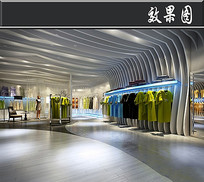 大气服装店3D效果图