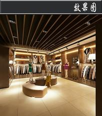 经典服装店3D效果图