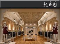 女士经典服装店3D效果图