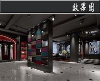 欧式风中装服装店3D效果图