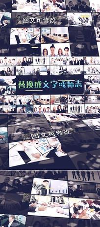 大气照片墙标志展示ae模板