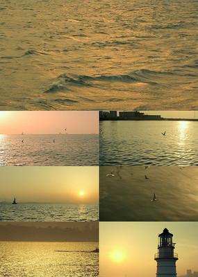 海上日出日落高清实拍视频