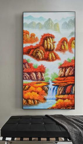 巨幅高清純手繪刀畫風景玄關