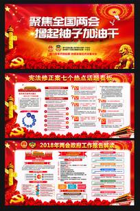 2018全国两会精神板报设计