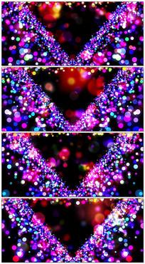 紫色梦幻粒子光斑LED