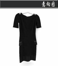 黑色灯芯绒短袖3D模型