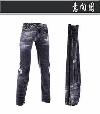 黑色牛仔裤3D模型
