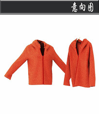 红色女士运动服3D模型