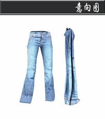 蓝色牛仔裤3D模型