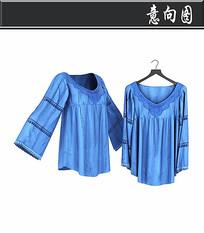 蓝色丝绸睡衣3D模型