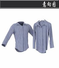 蓝色条纹衬衫3D模型