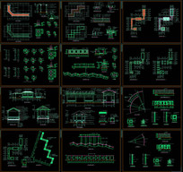 花架廊架CAD施工图