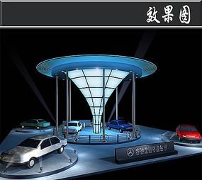 奔驰汽车展厅效果图