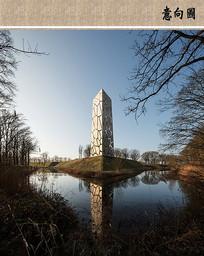 景观塔意向图