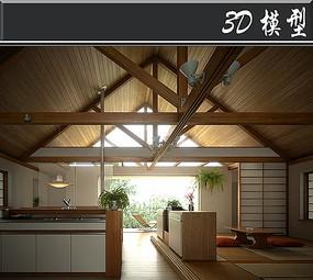 日式简约家装3D模型