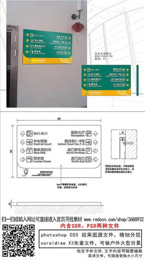 室内指示牌通道指引标识cdr
