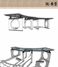 亭子廊架模型