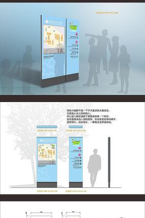 医院区域平面导视导览图标识